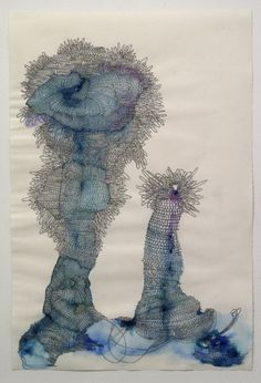 Blue Nebula, ink on paper, 2006  Melissa Manfull