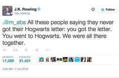 JK Rowling Says We All Got Our Hogwarts Letters, After All