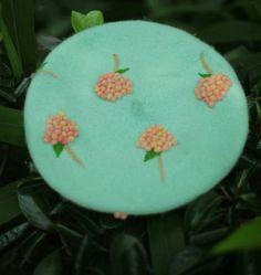 Mint Forest Beret Women / Girl Handmade Needle Felt от DollyHoly