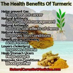 Natural Cures Not Medicine: Health Benefits Of Turmeric