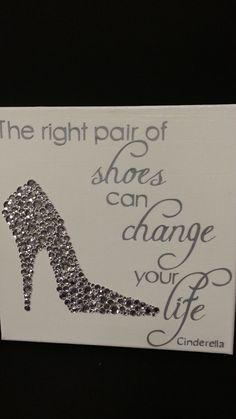12x12 Canvas Cinderella Quote