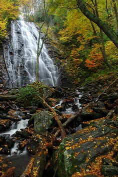 Crabtree Falls off of the Blue Ridge Parkway