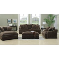 Darby Home Co Living Room Collection Couch And Loveseat, Sofa Bed, Sectional Sofa, Sofas, Oversized Ottoman, Brown Couch, Comfy Sofa, Living Room Sets, Love Seat