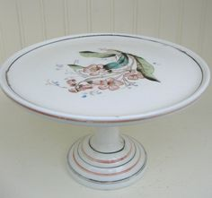 victorian cake stands   Milk Glass Cake Stand Victorian 1800s White Milkglass Pedestal Stand ...