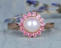 HANDMADE RINGS & BRIDAL SETS by MoissaniteRings on Etsy Bridal Ring Sets, Handmade Rings, Etsy Seller, Merry, Engagement Rings, Pearls, Floral, Flowers, Jewelry