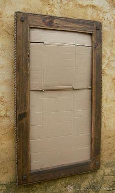 Espejos de forja muebles de hierro y espejos for Marcos para espejos de madera rusticos