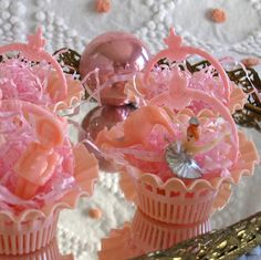 Vintage Pink Party Nut Cups