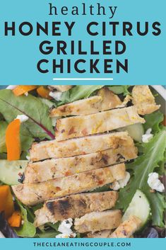 Spicy Honey Citrus Chicken is the perfect healthy grilling recipe! Made with simple ingredients and full of flavor, this easy chicken marinade is delicious! Gluten free and paleo - this chicken dish is a must try! Make it with chicken breasts, wings or thighs - it's SO good!