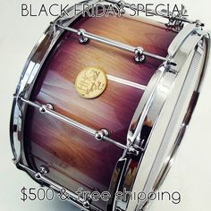 BLACK FRIDAY SPECIAL: 14x7 birch stave snare drum with natural to purple burst high gloss lacquer finish by #hhgdrums -2.33mm triple flange hoops -trick strainer -30 strand wires -integral reinforcement rings The sticker price on this snare is $750, snag it up for $500 until Friday at midnight DM or hhgdrums1@gmail.com for purchasing details #drums #drummer #drummimg #blackfriday #sale