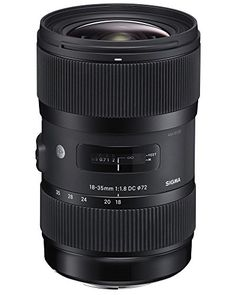 BUY NOW Sigma 210101 18-35mm F1.8 DC HSM Lens for Canon APS-C DSLRs (Black) First wide-angle to standard zoom lens to achieve