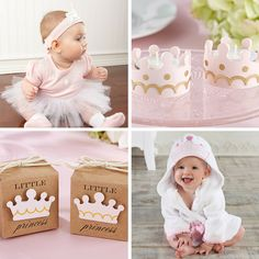 Celebrate the little princess with a little princess themed baby shower or first birthday party! | @cornerstorkbaby
