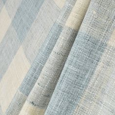 Kaufmann Check Please Lagoon Fabric - Image 3 French Country Fabric, French Country Dining Room, Interior Color Schemes, Living Room Update, Shabby Chic Living Room, Blue Home Decor, Furniture Covers, Fabric Ribbon, Fabulous Fabrics