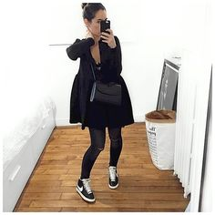 All Black Fashion, All Black Outfit, Daily Fashion, Autumn Fashion, Mom Outfits, Sport Outfits, Casual Outfits, Fashion Outfits, Womens Fashion