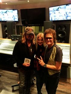With Gab and brother Billy Ray Cyrus at Legends studio in Burbank... all love