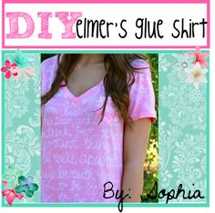 """DIY Elmers glue shirt"" by tip-duchesses ❤ liked on Polyvore"