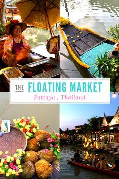 Der Floating Market Pattaya zählt zu den absoluten Highlights der Region. Erfahre warum, in dem du aufs Bild klickst. #Pattaya #Thailand #FloatingMarket #schwimmenderMarkt