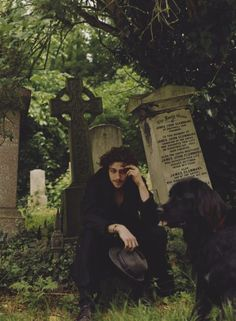 Sirius? I'm guessing he saw a black dog at the Godric Hallow's cemetery... xD