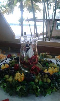 Wedding fruit centerpiece