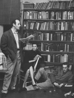Poet Lawrence Ferlinghetti Reading at a Poetry Reading.