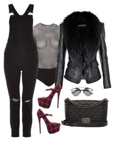 """""""af"""" by ace-finn-nyc on Polyvore featuring Fleur du Mal, Christian Dior, Christian Louboutin, Chanel and Balmain"""