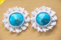 Blue lace pasties by Ambra Creations
