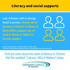 Literacy, Why It Matters Income Support, Literacy Skills, Households, It Works, Success, Canada, Strong, Relationship, Graphics