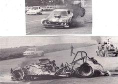 vintage funny car accident