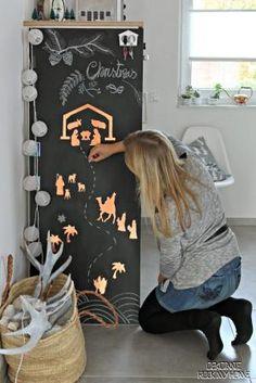 OBI Selbstgemacht Blog! Die Weihnachtsgeschichte als Aufkleber in Kupfer