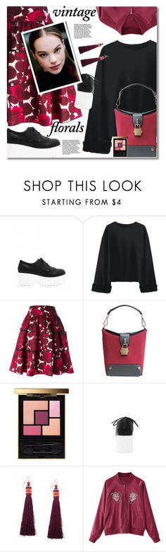 """""""Smell the Roses: Vintage Florals"""" by gamiss ❤ liked on Polyvore featuring Marc Jacobs, Yves Saint Laurent, vintage, casual, zaful, gamiss and vintageflorals"""