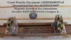GR20120100153 Priority doc.of WO/2013/136097 Magnetic system of five int...