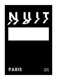 Nuit Blanche posters by Chen Xing, via Behance