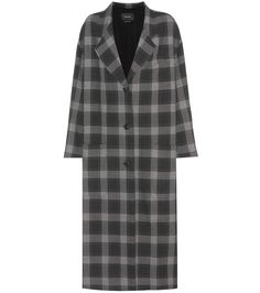 ISABEL MARANT Plaid Coat. #isabelmarant #cloth #coats