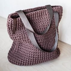 Everyday Tote Bag/ Crochet Shoulder Bag/ Everyday Woman's image 7