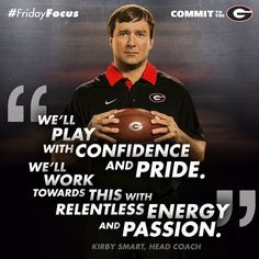 KIRBY SMART UGA HEAD COACH- let's see what he has got this season