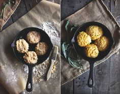 Sweet Potato Biscuits with Caramelized Shallot & Sage Butter | honey & jam