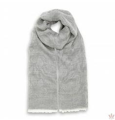 Pacific Summer Scarf Grey Silk & Wool Blend Wool Scarf, Cashmere Scarf, Summer Scarves, Silk Wool, Wool Blend, Italy, Free Shipping, Hoodies, Luxury