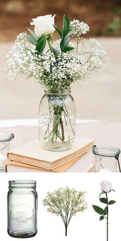 Cheap wedding centerpieces DIY centerpieces Affordable Wedding Centerpieces: Original Ideas, Tips & DIYs! Inexpensive Wedding Centerpieces, Wedding Centerpieces Mason Jars, Wedding Table Centerpieces, Diy Wedding Decorations, Simple Centerpieces, Decor Wedding, Simple Table Decorations, Cheap Centerpiece Ideas, Vintage Centerpieces