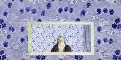 Blue Room - Marjatta Hanhijoki, 1999 Watercolor , 100 x 150 cm. Digital Art, Fine Art, Portrait, Illustration, Frame, Happy, Home Decor, Watercolor, Artists