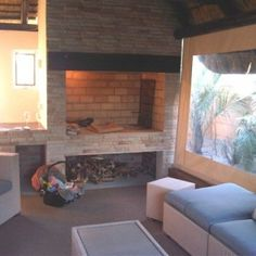 Entertainment Area 15 House, Home, Outdoor Living, Entertaining Area, Brick, Areas, Wood Burning Pizza Oven, Indoor, Fireplace