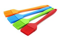 MsFeng Set of 4 Silicone Basting Brush /& Pastry Grilling BBQ Brush Soft Grip and Solid Design Kitchen Essential Cooking Gadget Durable Heat Resistant Baking Utensils