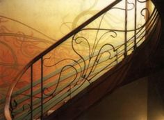 Interior Stairway at Tassel House by Victor Horta 1893