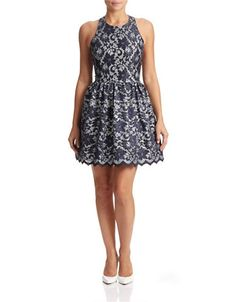 Women's   Party Dresses   Metallic Lace Fit-and-Flare Dress   Hudson's Bay