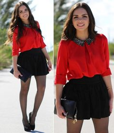 Something red .. and sequins! (by Daniela Ramirez) http://lookbook.nu/look/3144591-Something-red-and-sequins