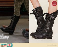 Maya's studded boots on Girl Meets World.  Outfit Details: http://wornontv.net/35755/ #GirlMeetsWorld
