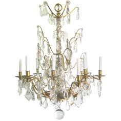 12 Arm Chandelier with 6 Indirect Lights   From a unique collection of antique and modern chandeliers and pendants  at https://www.1stdibs.com/furniture/lighting/chandeliers-pendant-lights/