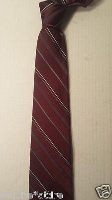 KETCH men neck dress #tie burgundy with stripes narrow style (skinny slim tie) visit our ebay store at  http://stores.ebay.com/esquirestore