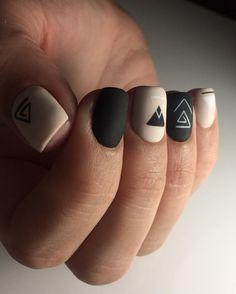 Simple geometric nails.