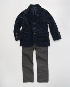 -3W05 Ralph Lauren Childrenswear Corduroy Sport Coat & Slim-Fit Jeans