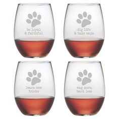 Showcasing a sand-etched typographic motif, this charming stemless wine glass is perfect for offering a favorite vintage at your next soiree or enjoying a cr...