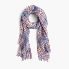 Wool scarf in dawson plaid